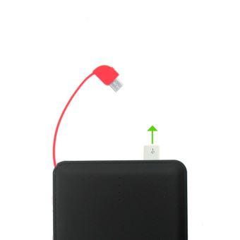 B2B POWERBANK BLOCK 10000MAH BLACK + RED