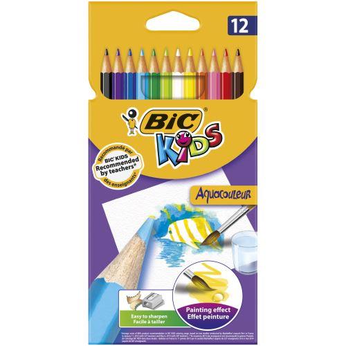 12 lápices BIC Kids Aquacouleur multicolor
