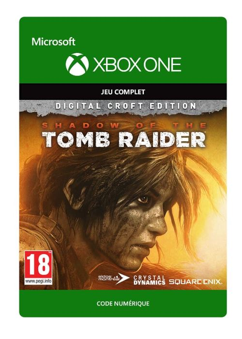 Code de téléchargement Shadow of the Tomb Raider Edition Croft Xbox One
