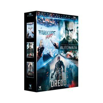 Action sf/coffret 3 films/hardcore henry/automata/dredd