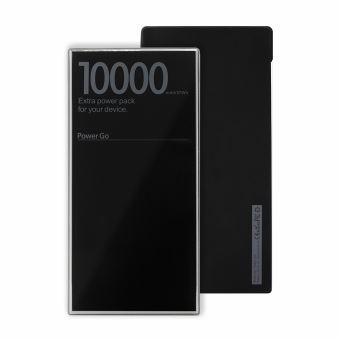 B2B POWERBANK GLOSSY 10000MAH BLACK PEARL