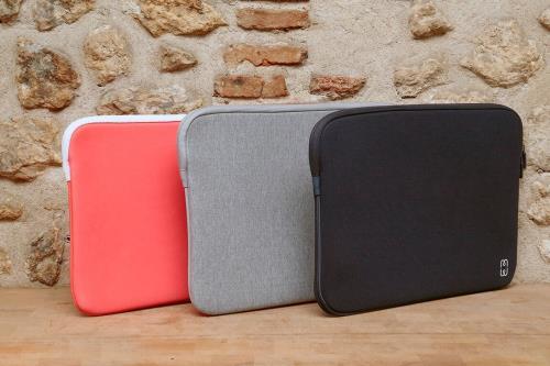 housse mw pour macbook air et macbook pro 13 usb c grise et blanche