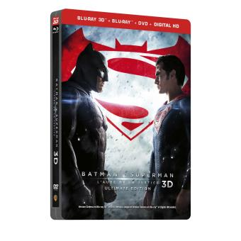 Batman V Superman L'aube de la justice Version Longue Ultimate Edition Steelbook Blu-ray 3D + 2D