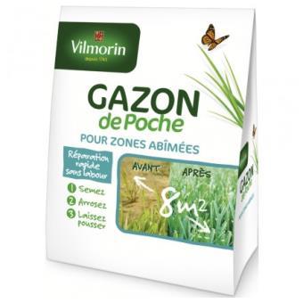VILMORIN FND GAZON DE POCHE ZONE ABIMEE*