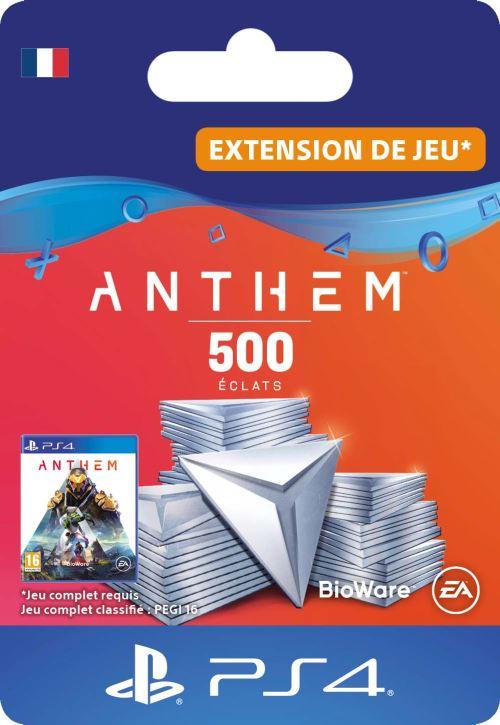 Code de téléchargement Anthem : Pack 500 éclats PS4