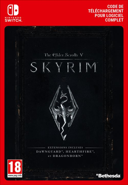 Code de téléchargement The Elder Scrolls V Skyrim Nintendo Switch