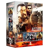 Action/coffret 4 films/lord of drug/rising fear/riot