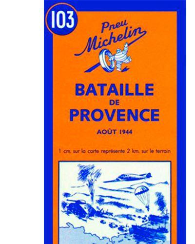 Carte Bataille de Provence août 1944 Michelin