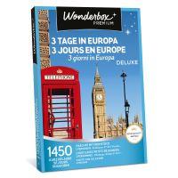 Coffret cadeau Wonderbox 3 jours en Europe deluxe
