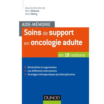 Soins de support en oncologie adulte en 29 notions