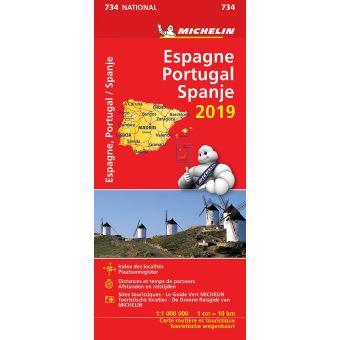 ESPAGNE PORTUGAL SPANJE 11734 CARTE 'NATIONAL' 2019 MICHELIN KAART