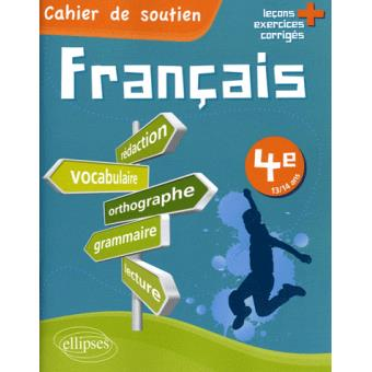 Le Francais En 4eme Cahier De Soutien