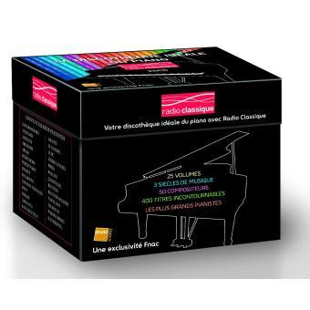 coffret piano radio classique 25 cd exclusivit fnac compilation musique classique cd album. Black Bedroom Furniture Sets. Home Design Ideas