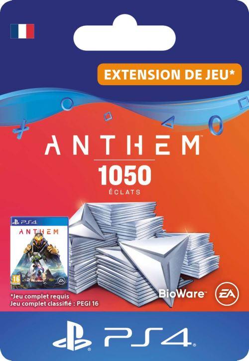 Code de téléchargement Anthem : Pack 1050 éclats PS4