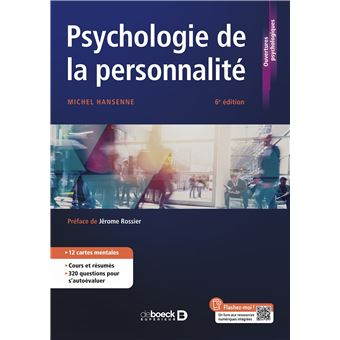 a676117bcf0 Psychologie de la personnalité - broché - Michel Hansenne - Achat Livre