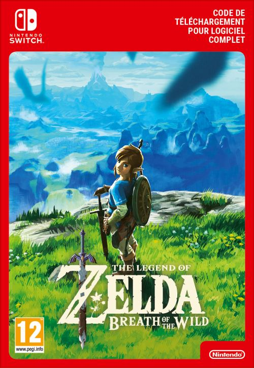 Code de téléchargement The Legend of Zelda Breath of the Wild Nintendo Switch