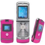 Téléphone GSM MOTOROLA RAZR V3 ROSE