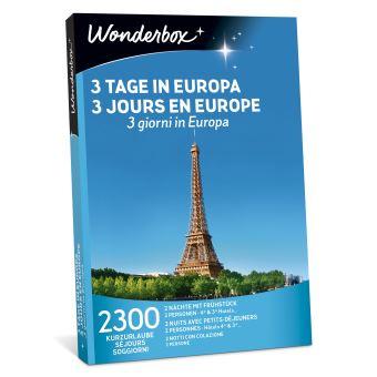 Coffret cadeau Wonderbox 3 jours en Europe