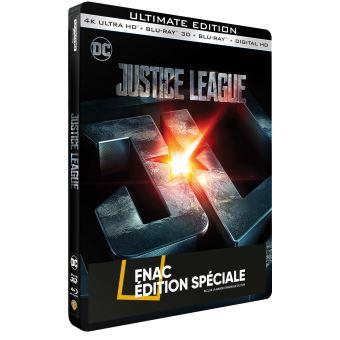 Justice leagueJustice League Steelbook Edition Spéciale Fnac Blu-ray 4K Ultra HD