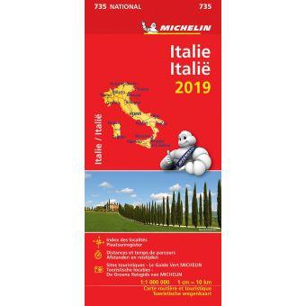 ITALIE 11735 CARTE 'NATIONAL' 2019 MICHELIN KAART