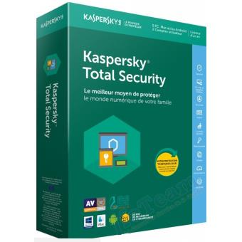 Kaspersky Total Security 2018 5 Postes 1 An