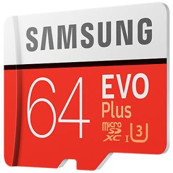Carte Micro Sd Evo Plus Samsung 64 Go Avec Adaptateur Sd