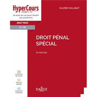 Droit pénal spécial 3e édition - Valérie Malabat