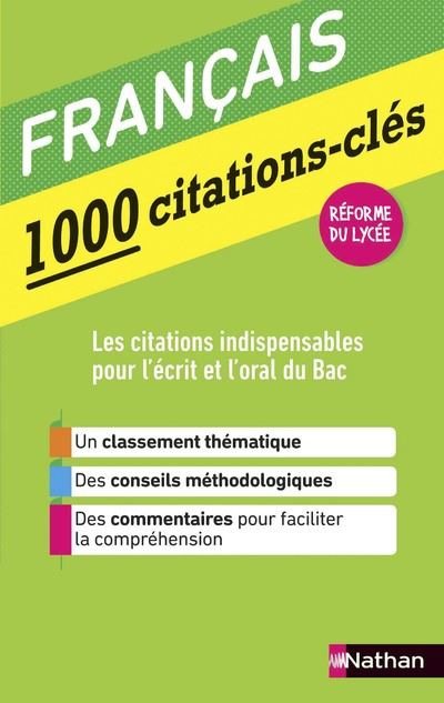 1000 citations-clés - Français
