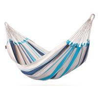 Hamac simple La Siesta Caribeña Aqua blue Blanc et bleu