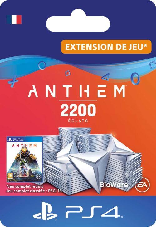 Code de téléchargement Anthem : Pack 2200 éclats PS4