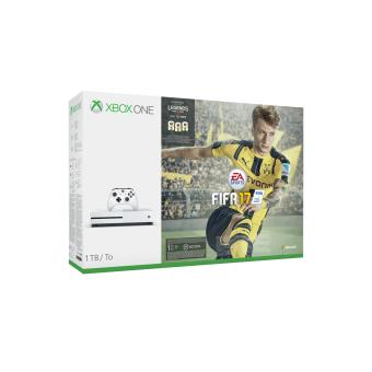 console microsoft xbox one s 1 to blanc fifa 17. Black Bedroom Furniture Sets. Home Design Ideas