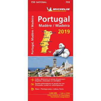 PORTUGAL 11733 CARTE 'NATIONAL' 2019 MICHELIN KAART
