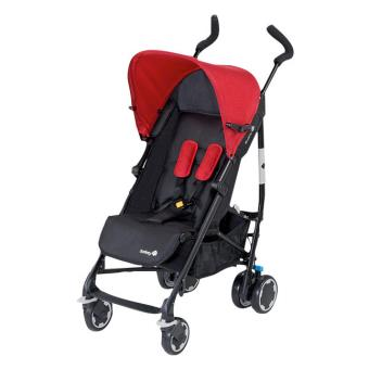 poussette canne safety rouge