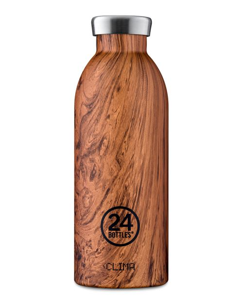 24 BOTTLES BOUTEILLE ISOTHERME CLIMA 0.85 L SEQUOIA WOOD