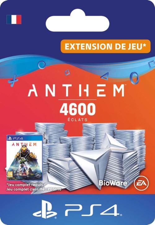 Code de téléchargement Anthem : Pack 4600 éclats PS4