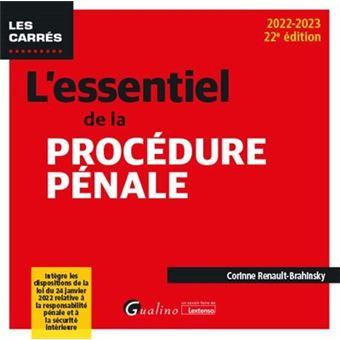 L'essentiel de la procedure penale - 18eme edition