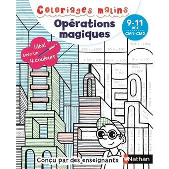 Coloriages Malins Operations Magiques Cm1 Cm2 Broche Claudine