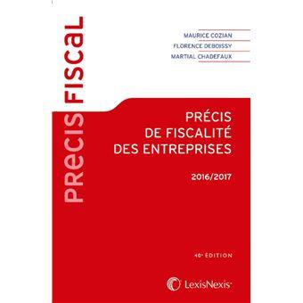 Precis de fiscalite des entreprises 2016-2017