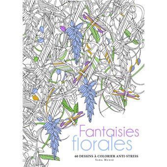 Fantaisies florales - 60 dessins à colorier