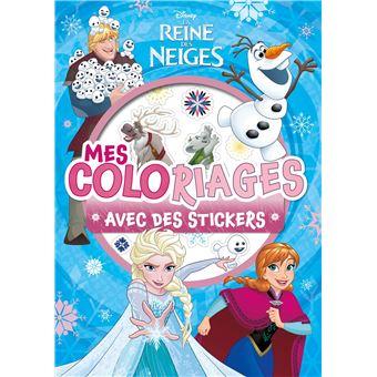 Frozen, La reine des neigeREINE DES NEIGES - Mes coloriages avec stickers