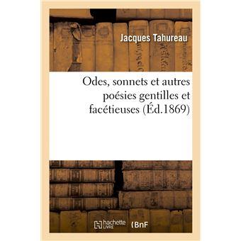Odes, sonnets et autres poésies gentilles et facétieuses
