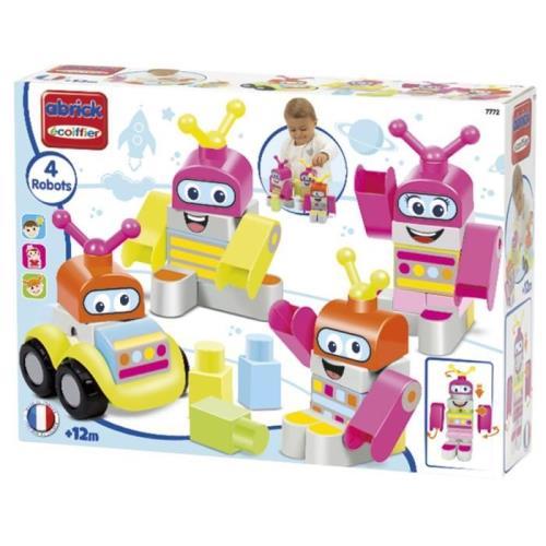 4 robots à construire, à créer et à recréer à l´infini. + 12 mois, fabrication française.