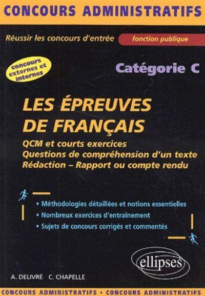 Les épreuves de français - catégorie C
