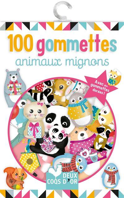 100 gommettes Animaux tout doux