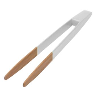 Pince à toast Pebbly Natural 24 cm Blanche