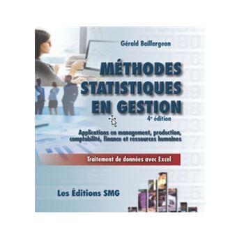 Methodes statistiques avec applications en gestion productio