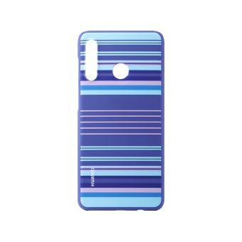 Huawei P30 Lite PC Cover Striped Blue
