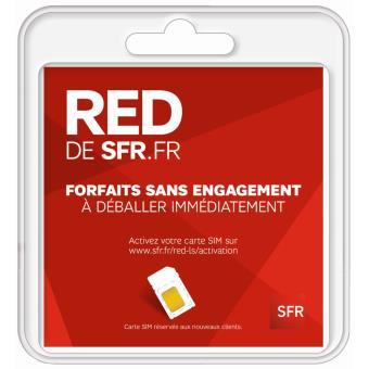 carte sim red by sfr 3 en 1 Kit carte sim 3 EN 1 RED BY SFR   Accessoire pour téléphone mobile