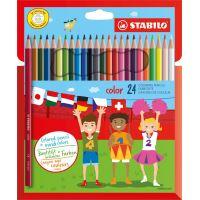 Color pencil cardboard wallet 24 pcs