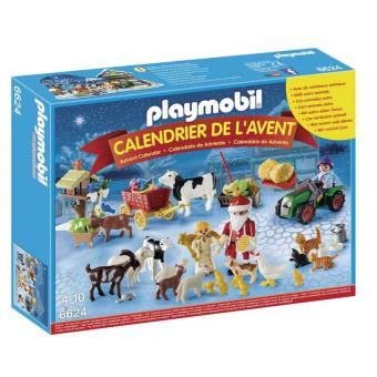 playmobil calendrier de l 39 avent 6624 p re no l la ferme. Black Bedroom Furniture Sets. Home Design Ideas